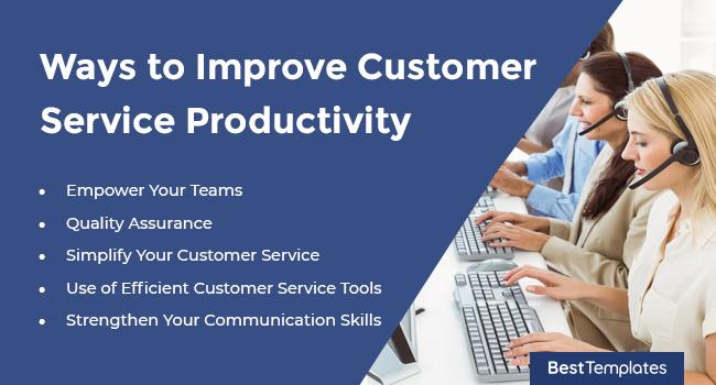 Ways to Improve Customer Service Productivity