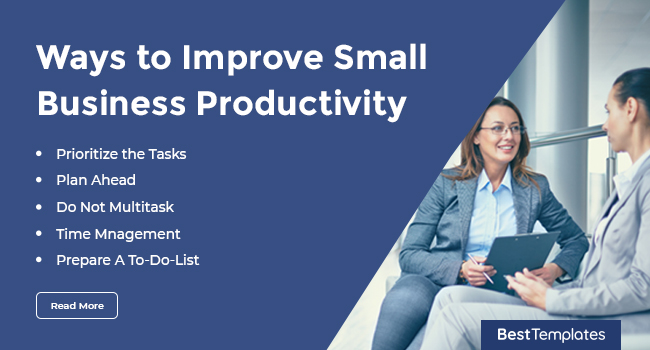 Ways to Improve Small Business Productivity