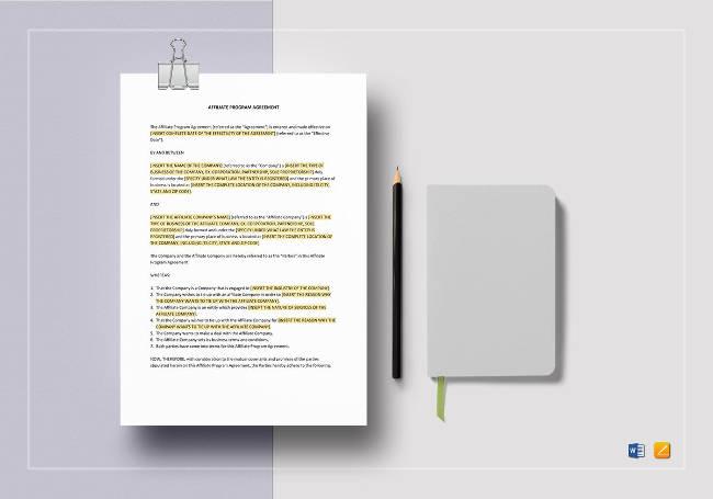 Affiliate Program Agreement
