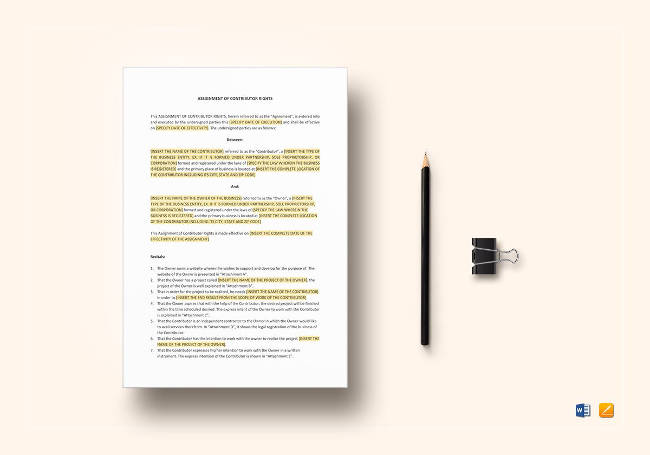 Assignment of Contributor Rights