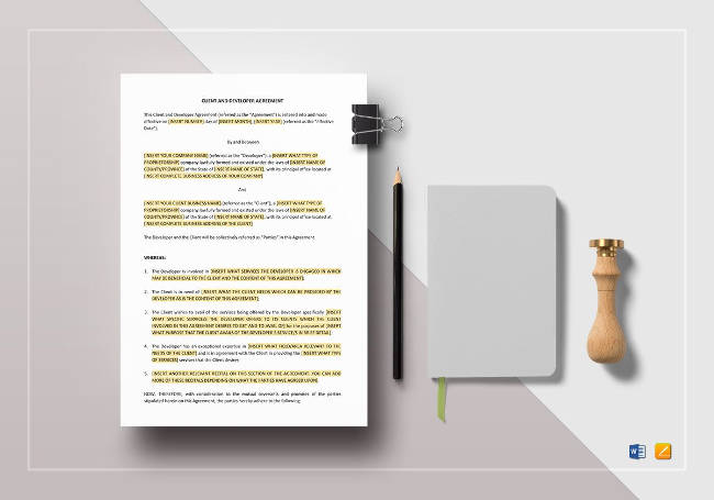 Client and Developer Agreement