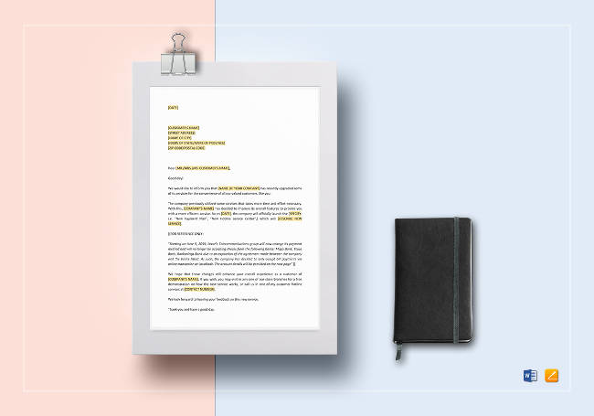 New Service Announcing Letter Template