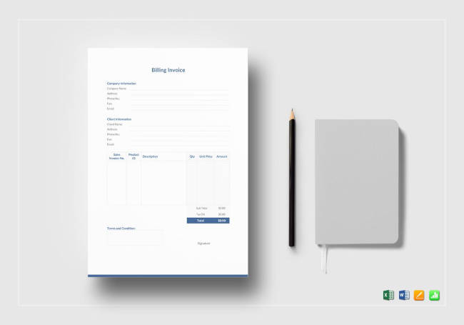 Printable Billing Invoice Template