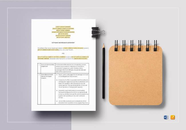 Software Maintenance Agreement