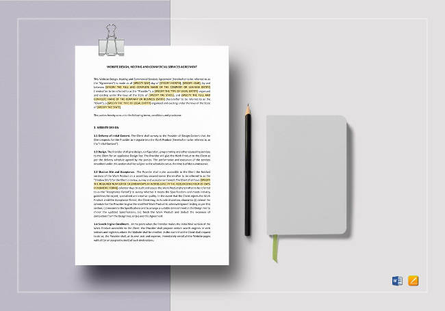 Website Design, Hosting, And Commercial Service Agreement