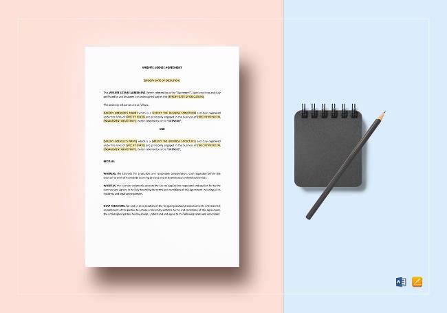 Website License Agreement