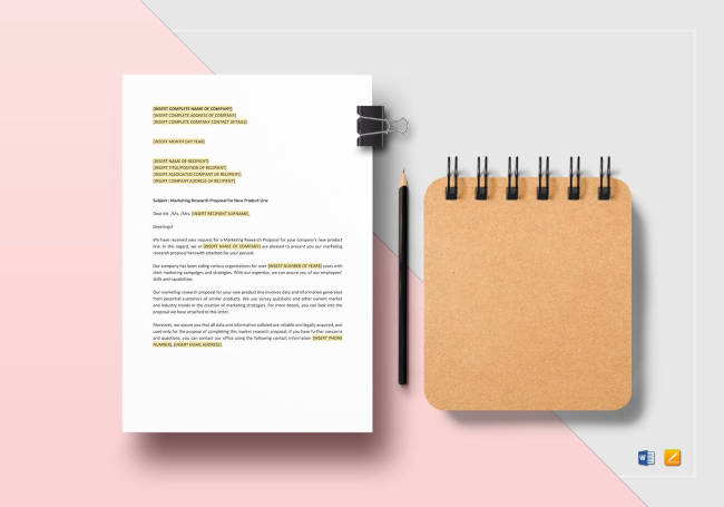 Marketing Research Proposal Template