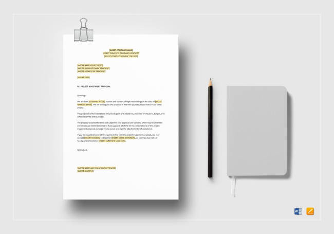 Project Investment Proposal Template